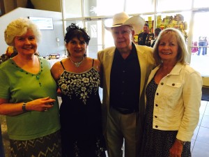 George and Pat Palmer, with Sylvianna in the middle, and Mary Ann on the right.