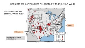 Earthquakes associated with disposal wells. Several are greater than magnitude 5 (click to enlarge or to source, then back-arrow to return to blog).