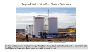 Disposal well in Oklahoma ordered to be temporarily shut-in. There were 3,200 active disposal wells in Oklahoma as of April 2015 (click to enlarge or to source).
