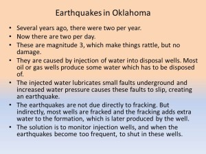 More info about fracking can be found in another blog.